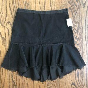 Heart Moon Star Brown Corduroy Drop Waist Skirt